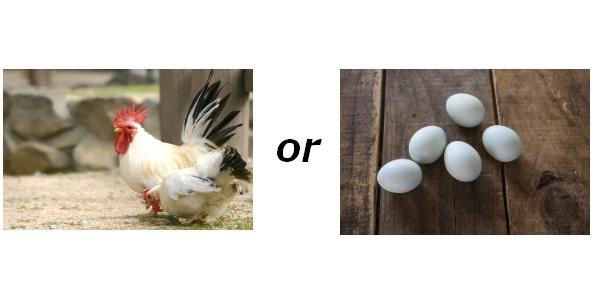 ニワトリが先か卵が先か