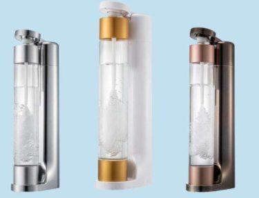 おしゃれで持ち運び自由な炭酸水メーカーはコスパもいいね!